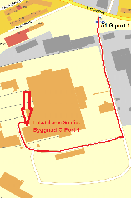 Lokstallarna Studios karta